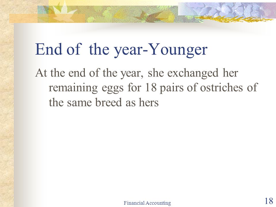 End of the year-Younger