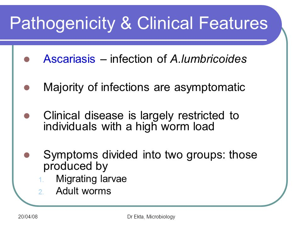Pathogenicity & Clinical Features