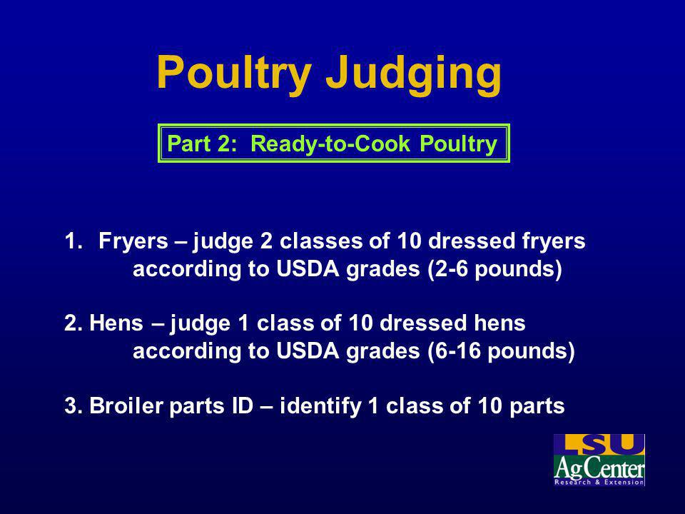 Poultry Judging Part 2: Ready-to-Cook Poultry
