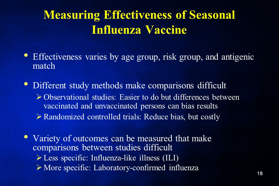 Measuring Effectiveness of Seasonal Influenza Vaccine