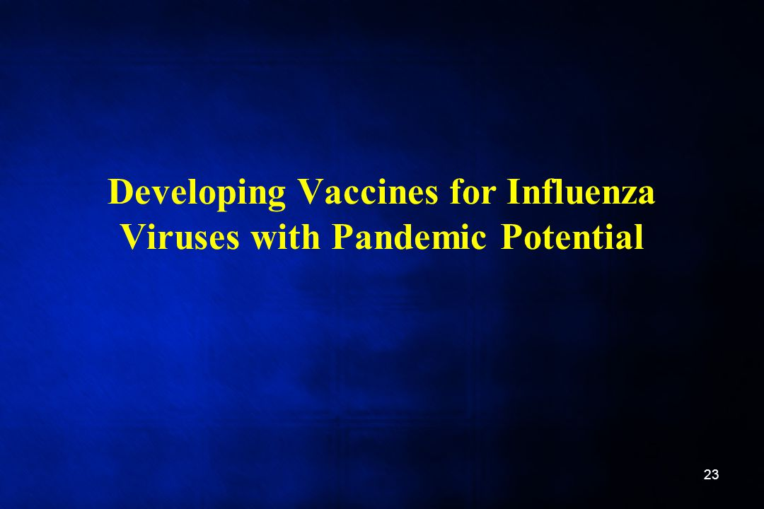 Developing Vaccines for Influenza Viruses with Pandemic Potential