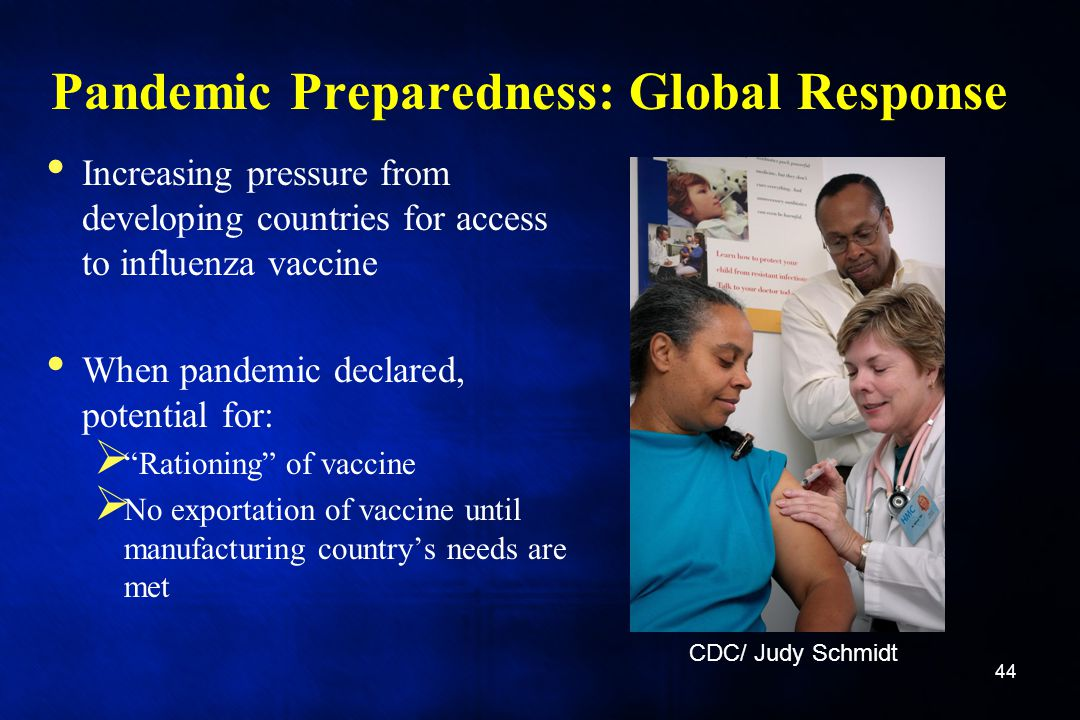 Pandemic Preparedness: Global Response