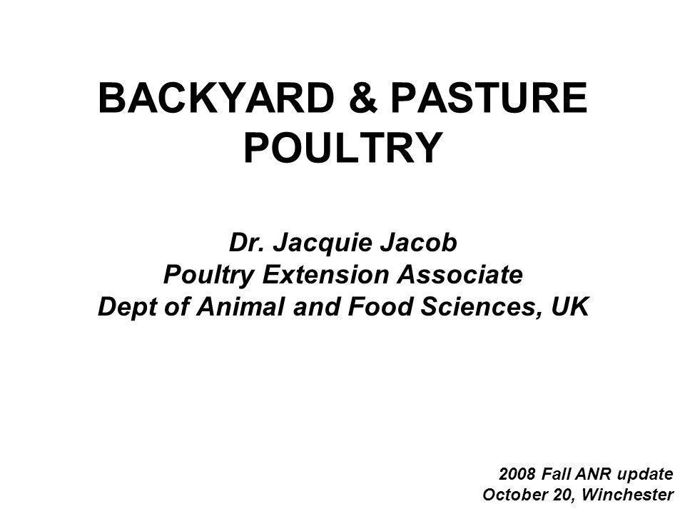 BACKYARD & PASTURE POULTRY