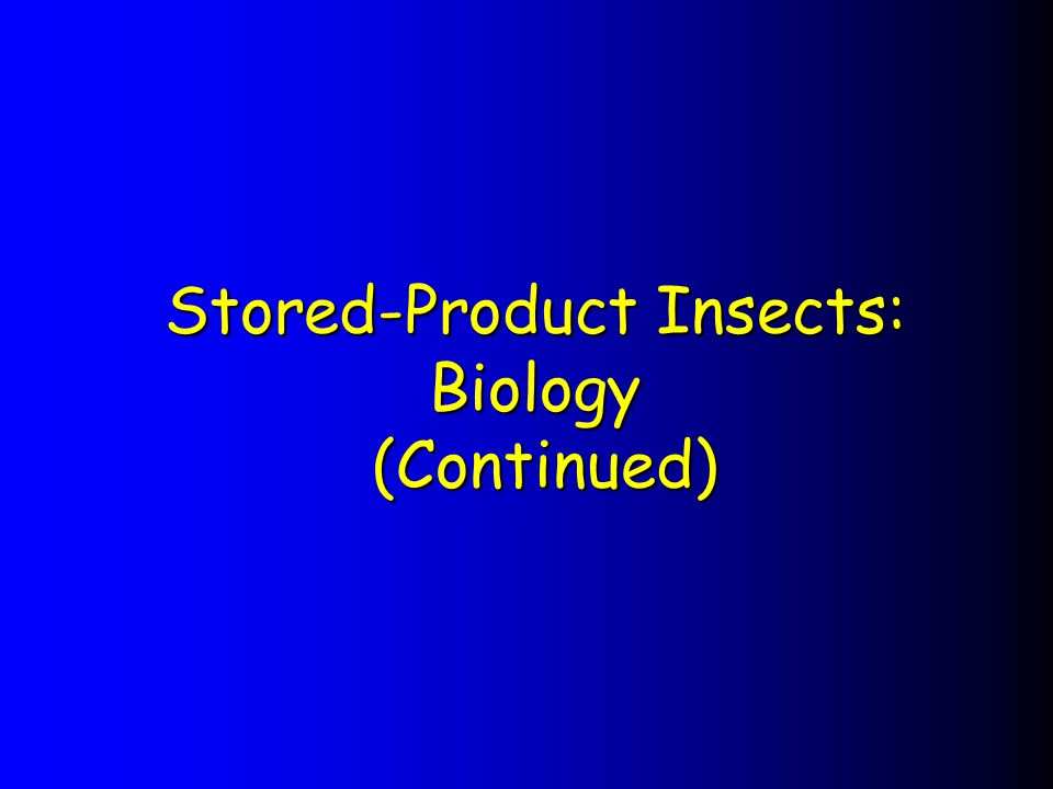 Stored-Product Insects: Biology (Continued)