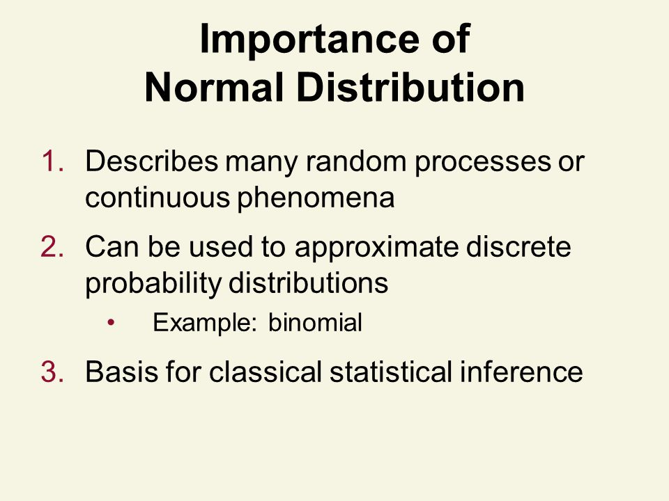 Importance of Normal Distribution