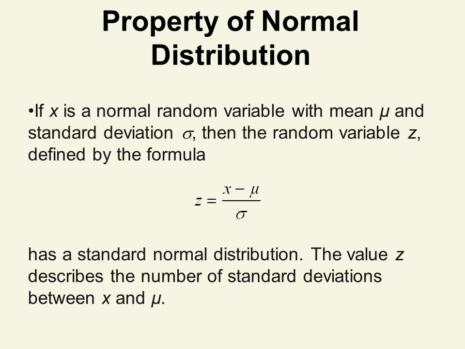 Property of Normal Distribution