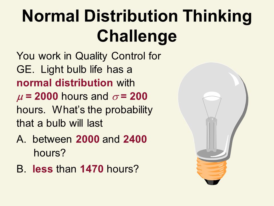 Normal Distribution Thinking Challenge