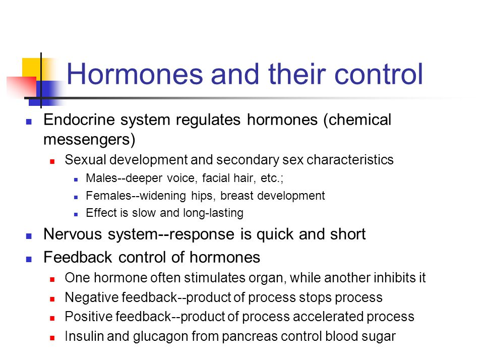 Hormones and their control