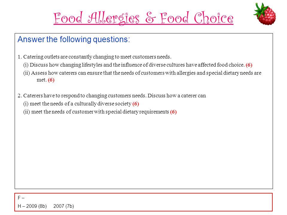 Food Allergies & Food Choice