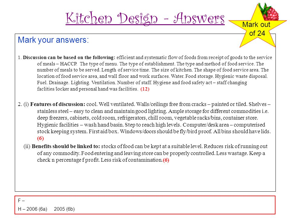 Kitchen Design - Answers