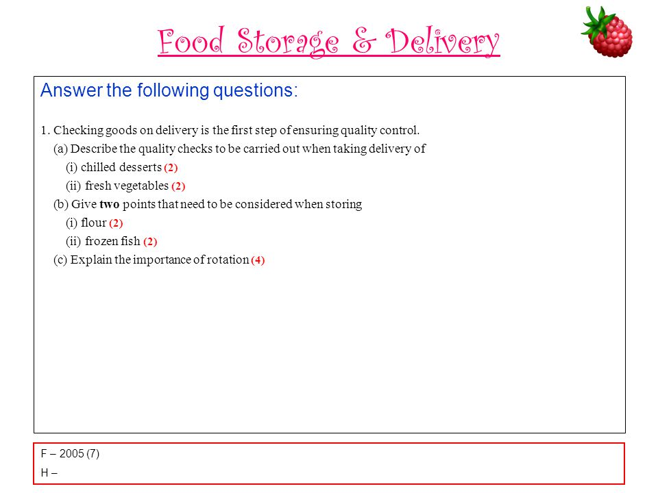 Food Storage & Delivery