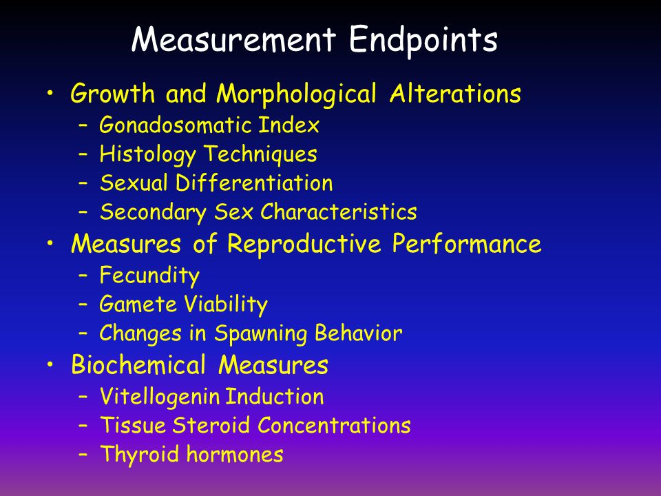 Measurement Endpoints
