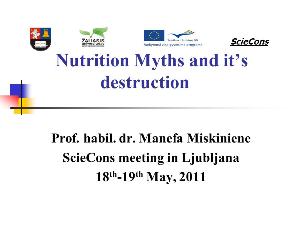 Nutrition Myths and it's destruction