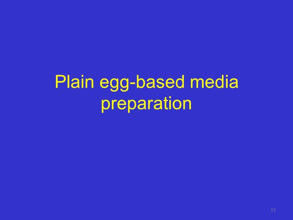 Plain egg-based media preparation