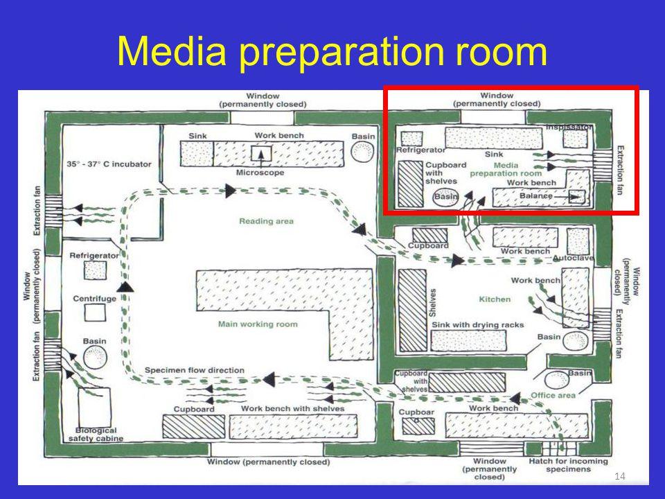Media preparation room