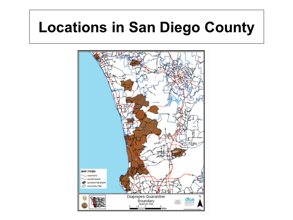 Locations in San Diego County