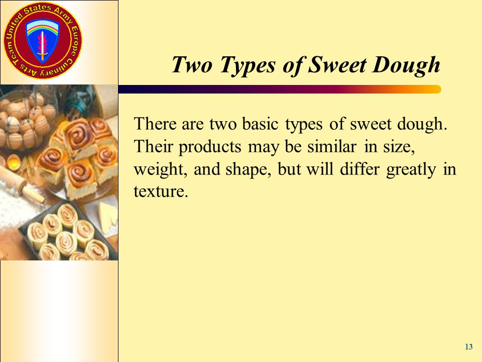 Two Types of Sweet Dough