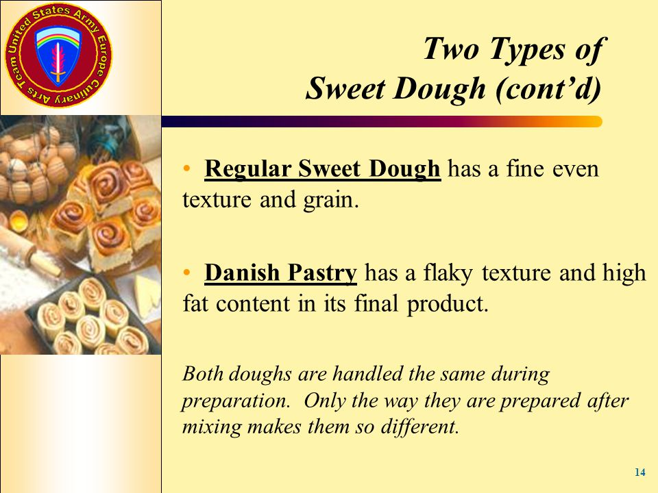 Two Types of Sweet Dough (cont'd)