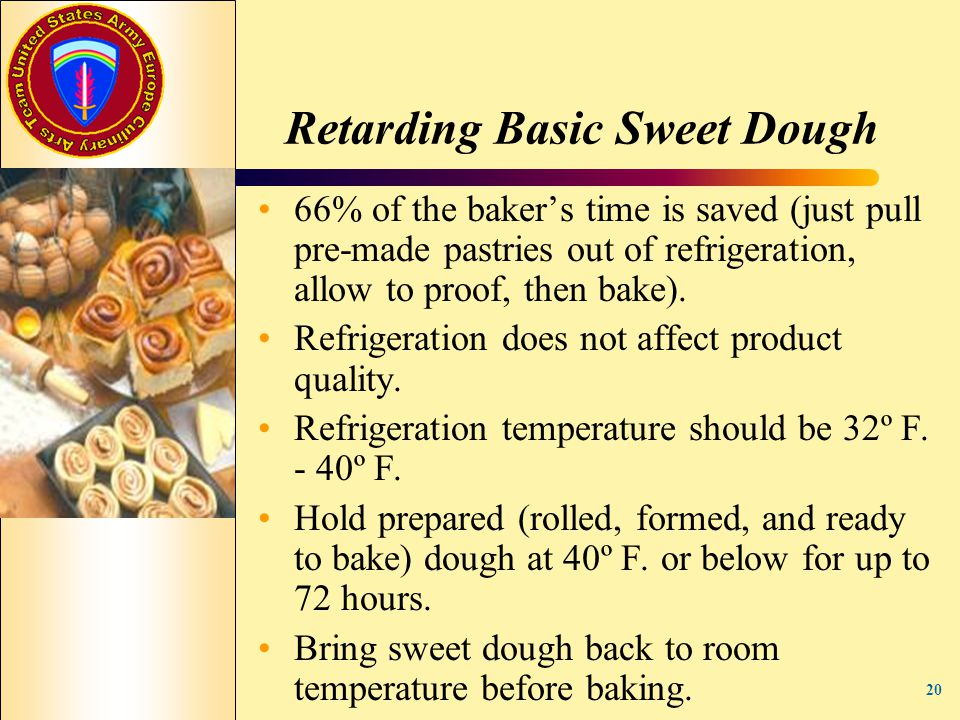 Retarding Basic Sweet Dough