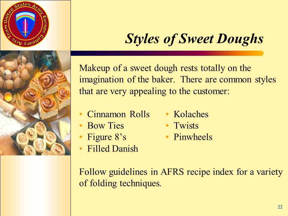 Styles of Sweet Doughs