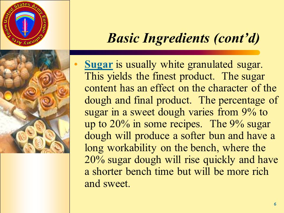Basic Ingredients (cont'd)