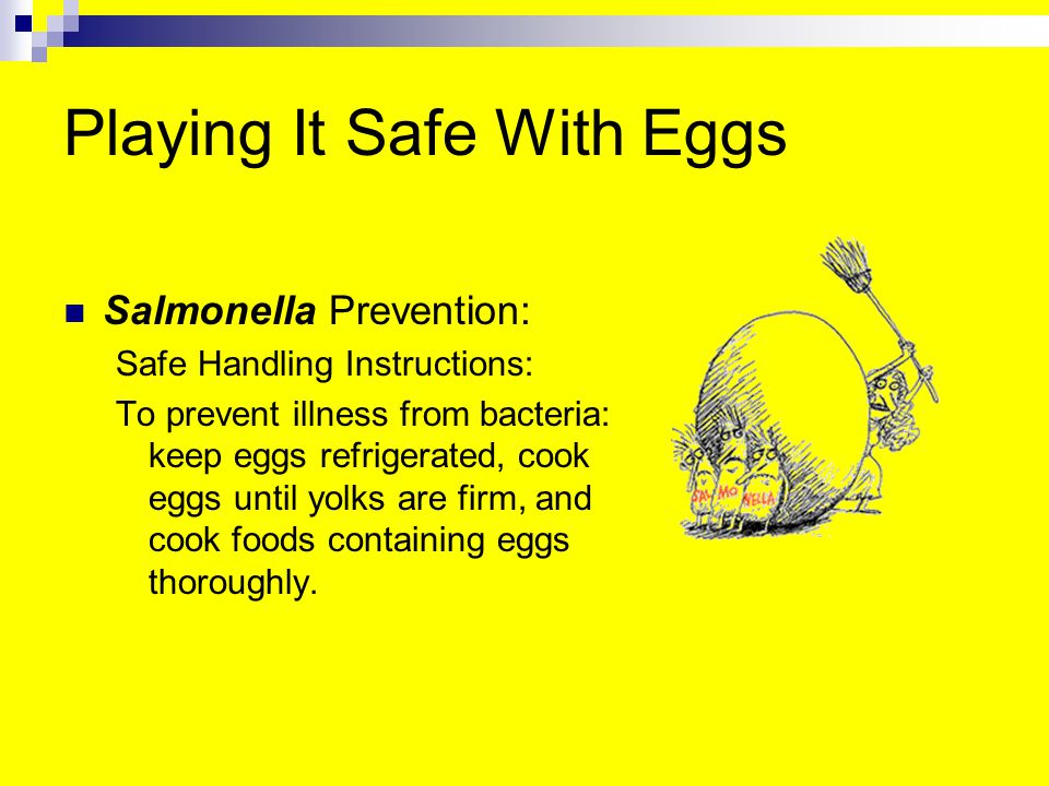 Playing It Safe With Eggs