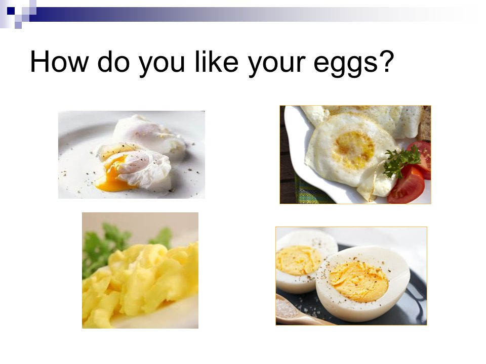 How do you like your eggs