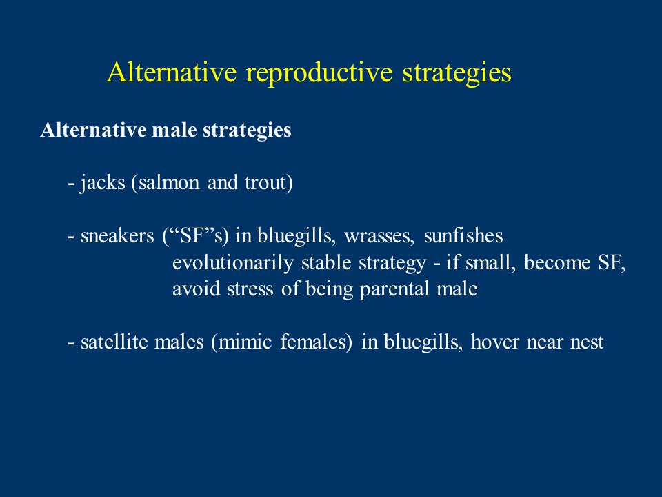Alternative reproductive strategies