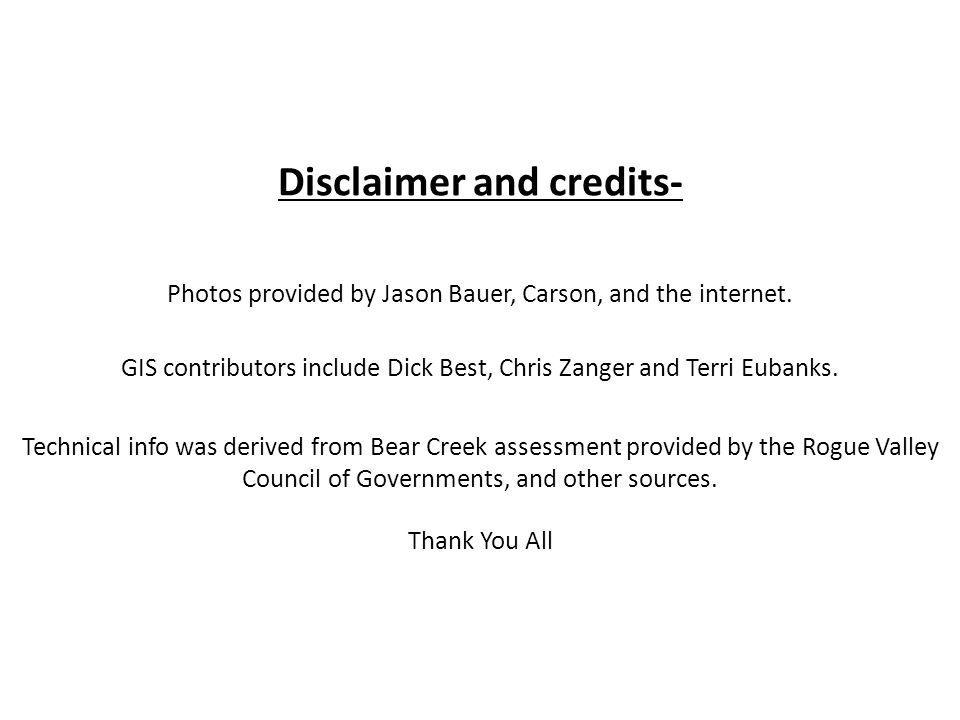 Disclaimer and credits- Photos provided by Jason Bauer, Carson, and the internet.