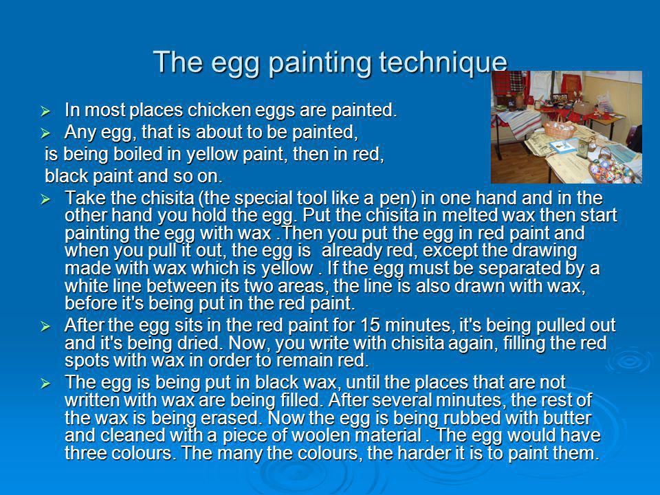 The egg painting technique
