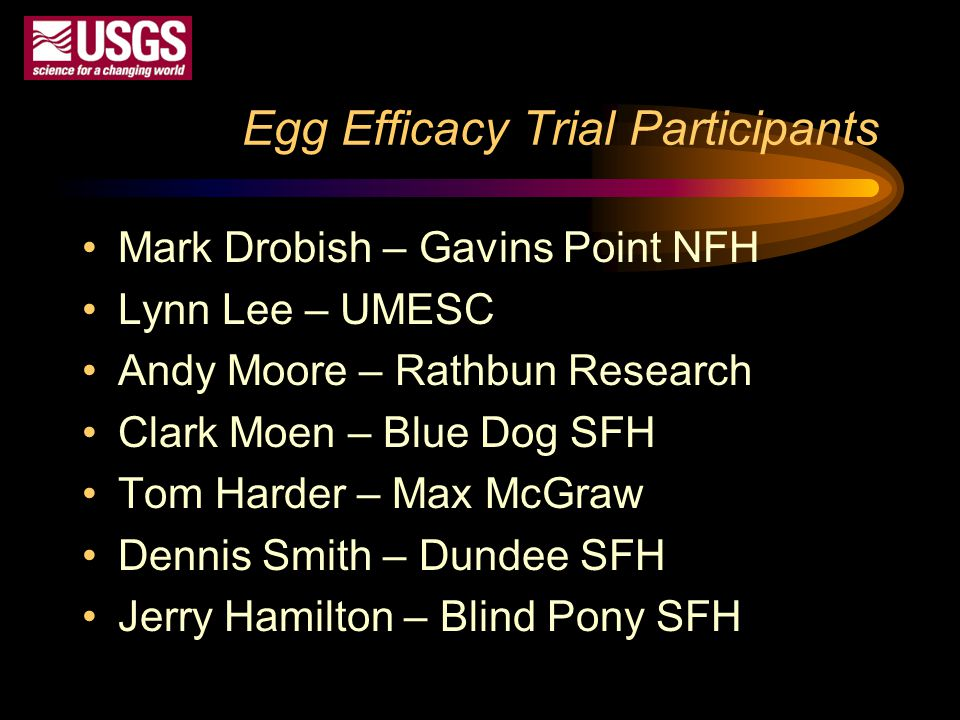 Egg Efficacy Trial Participants