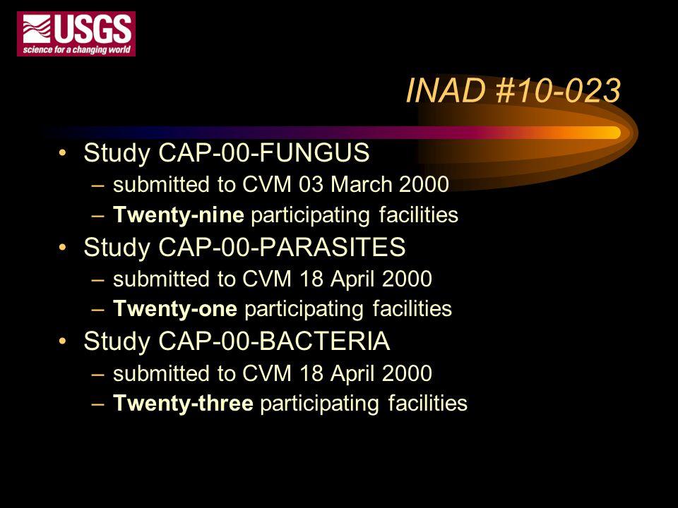 INAD #10-023 Study CAP-00-FUNGUS Study CAP-00-PARASITES
