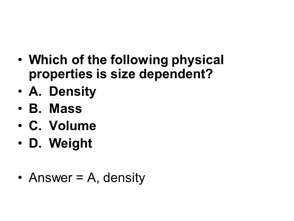 Which of the following physical properties is size dependent