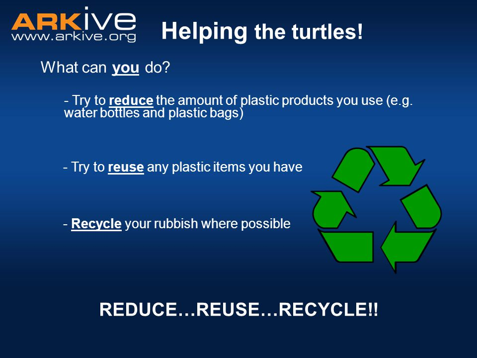 REDUCE…REUSE…RECYCLE!!
