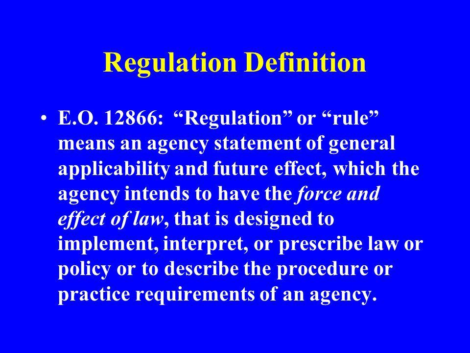 Regulation Definition