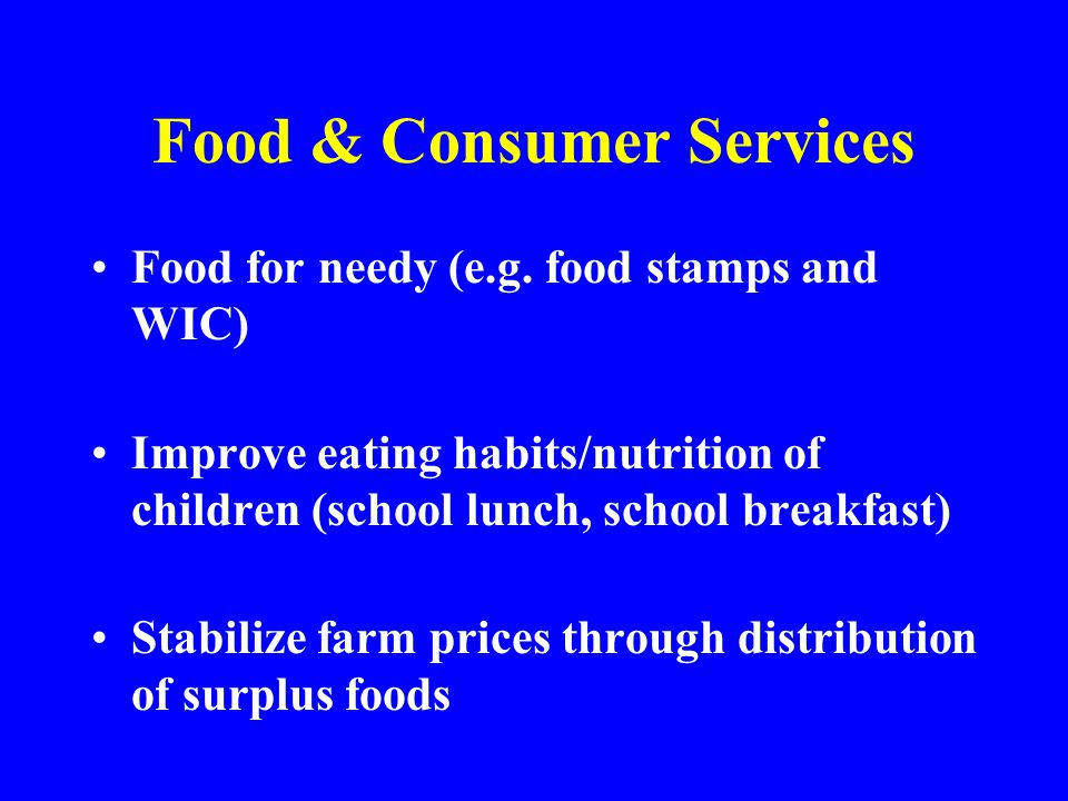 Food & Consumer Services