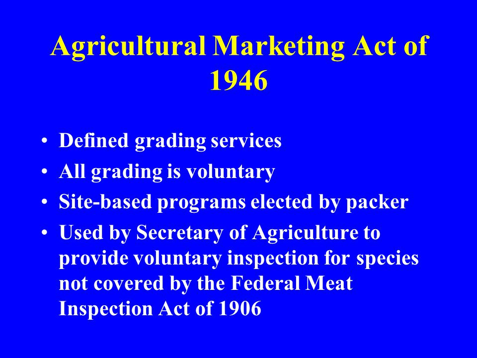 Agricultural Marketing Act of 1946
