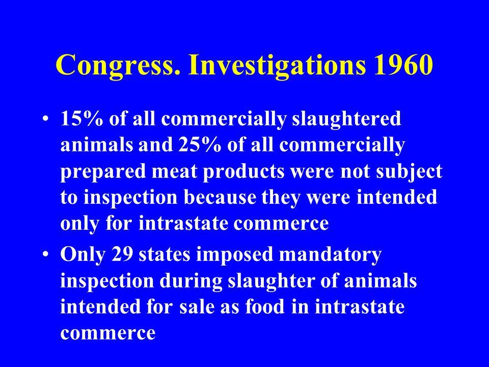 Congress. Investigations 1960