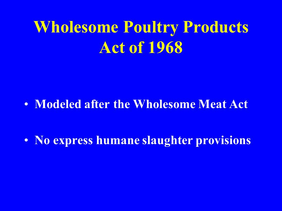 Wholesome Poultry Products Act of 1968