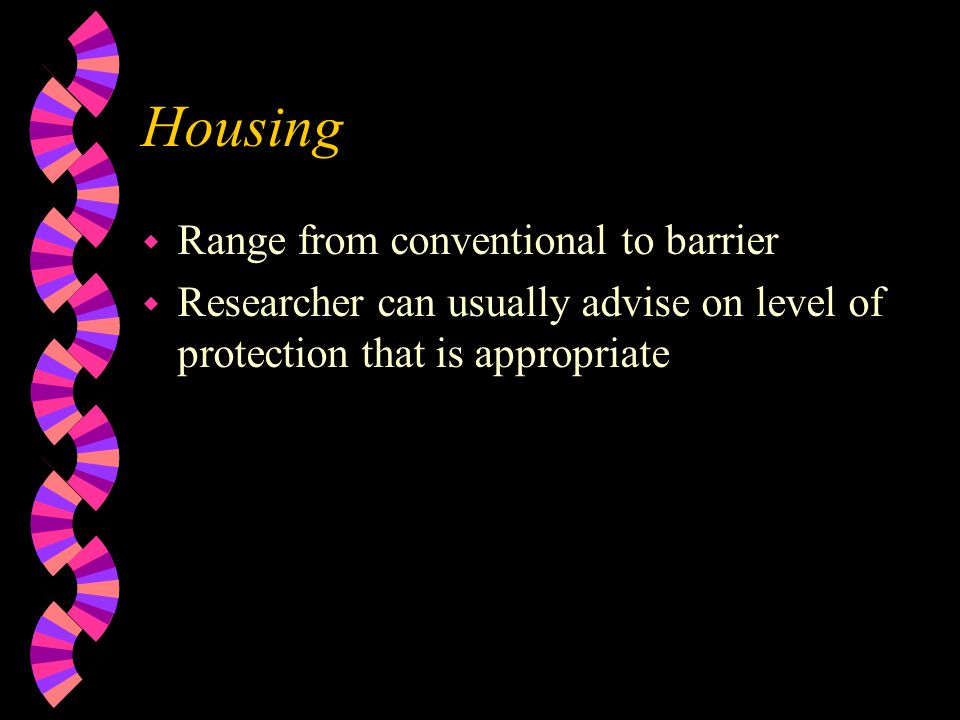 Housing Range from conventional to barrier
