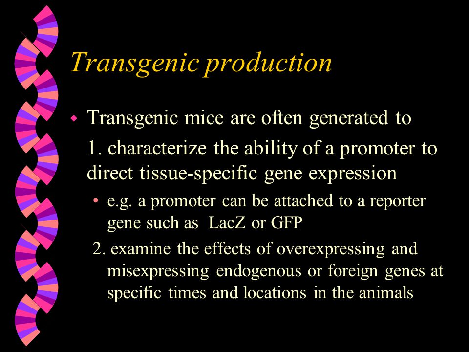 Transgenic production