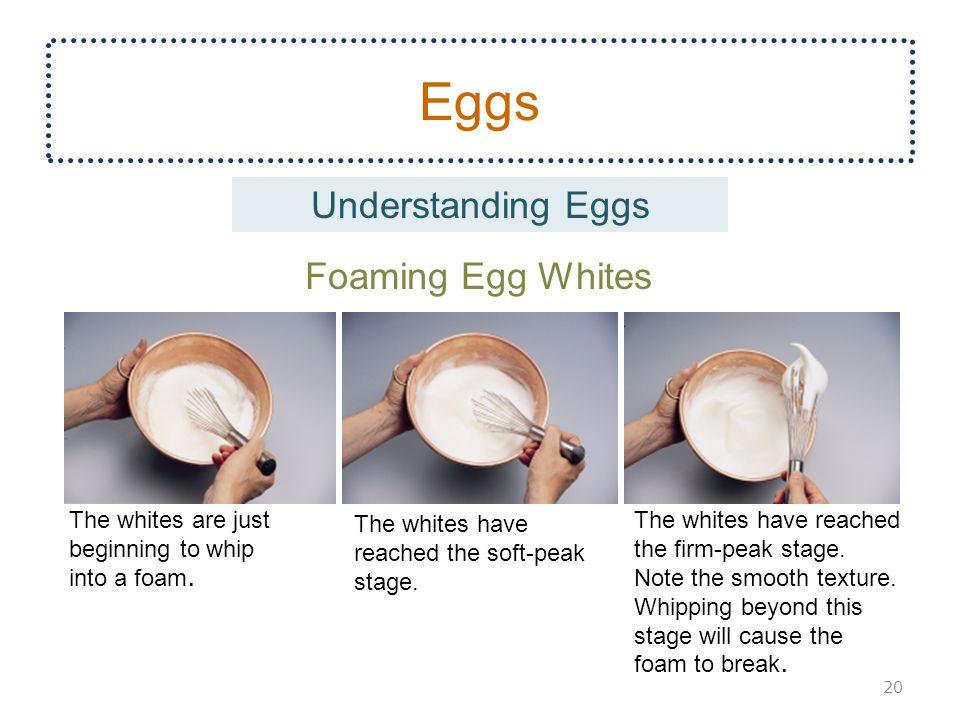 Eggs Understanding Eggs Foaming Egg Whites The whites are just