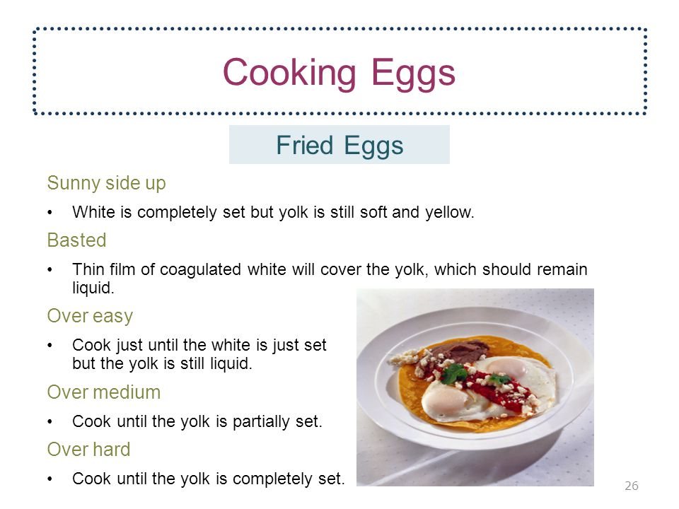 Cooking Eggs Fried Eggs Sunny side up Basted Over easy Over medium