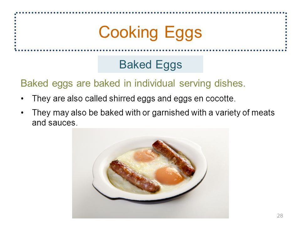 Cooking Eggs Baked Eggs