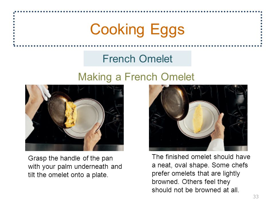 Cooking Eggs French Omelet Making a French Omelet
