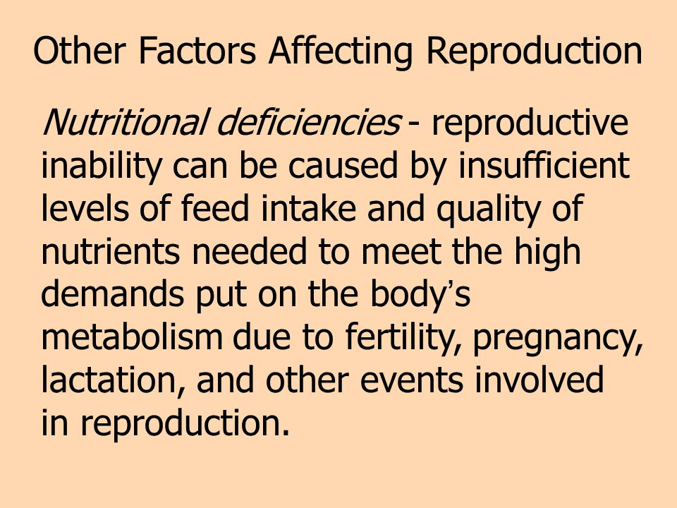 Other Factors Affecting Reproduction