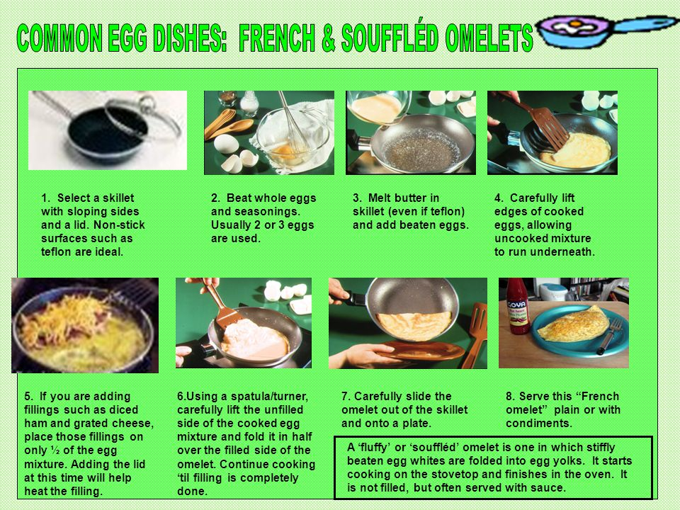 COMMON EGG DISHES: FRENCH & SOUFFLÉD OMELETS