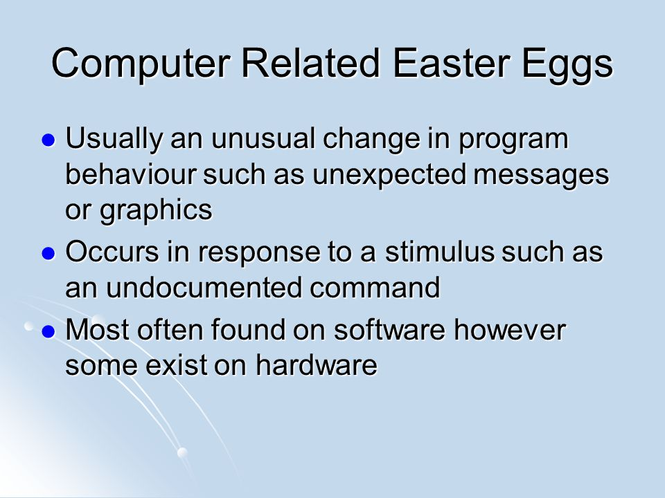 Computer Related Easter Eggs