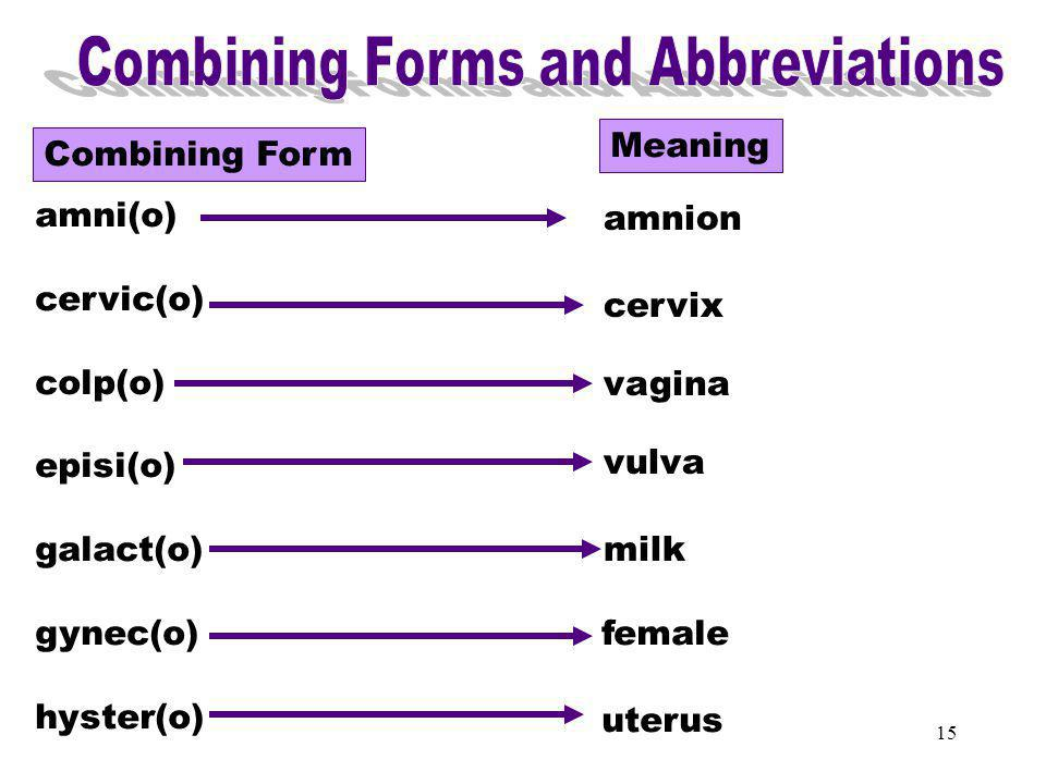 Combining Forms & Abbreviations (amni)