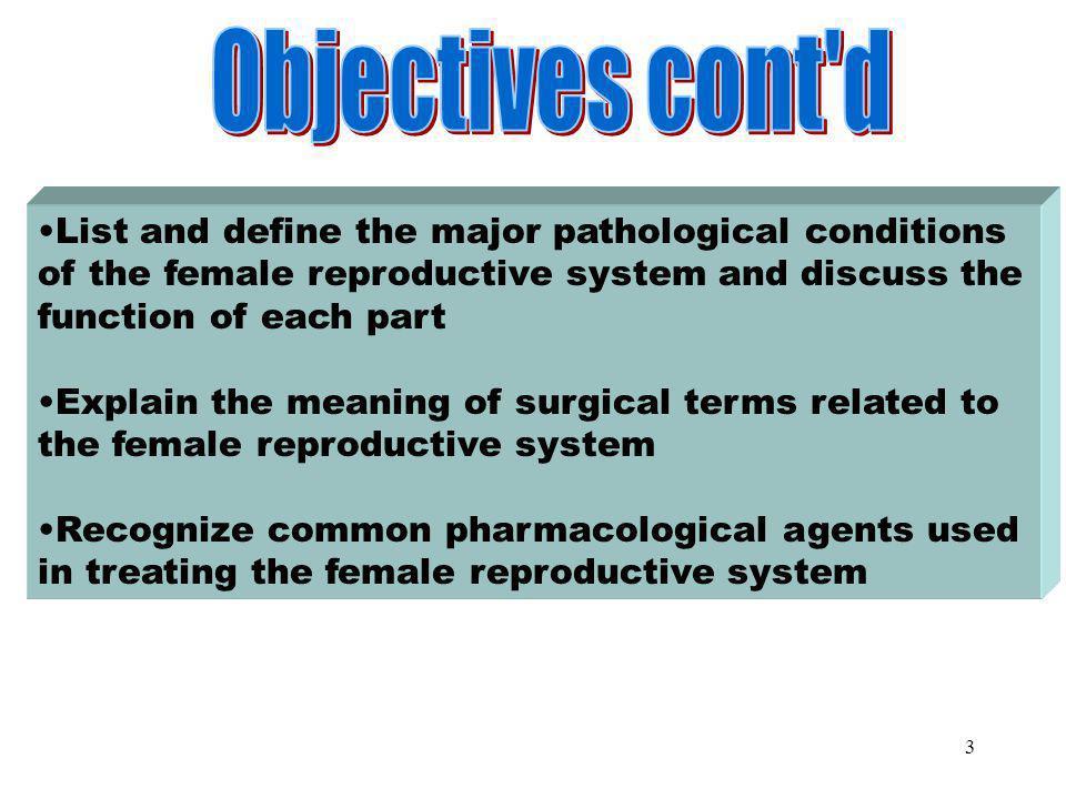 Objectives Part 2 Objectives cont d